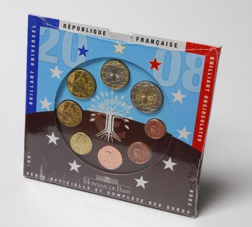 Lieferumfang:Frankreich : 3,88 Euro original Kursmünzensatz der französischen Münze  2008 Stgl. KMS Frankreich 2008