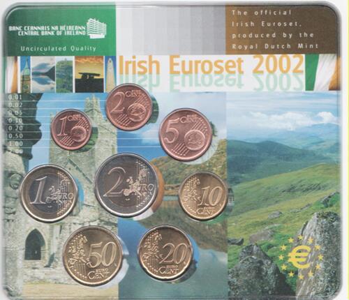 Lieferumfang:Irland : 3,88 Euro Kursmünzensatz aus Irland - Ausgabe der NL-Münze  2002 Stgl.