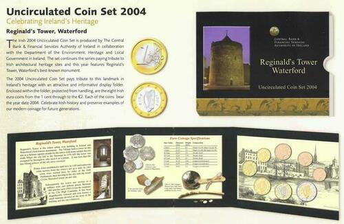 Lieferumfang:Irland : 3,88 Euro original Kursmünzensatz aus Irland  2004 Stgl. KMS Irland 2004