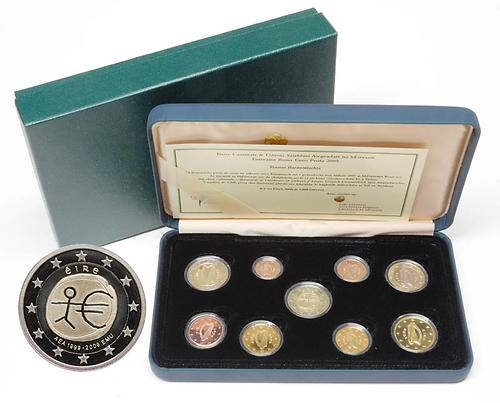 Lieferumfang:Irland : 5,88 Euro original Kursmünzensatz aus Irland inkl. 2 Euro Gedenkmünze WWU  2009 PP KMS Irland 2009 PP