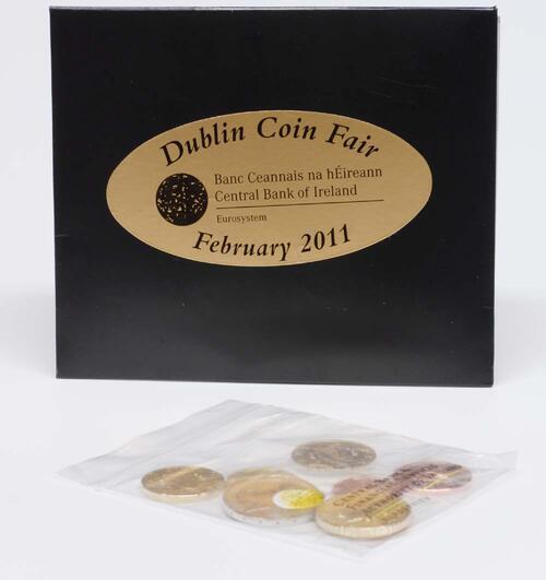Lieferumfang:Irland : 3,88 Euro original Kursmünzenset aus Irland - Dublin Coin Fair  2011 Stgl.