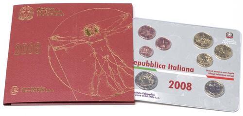 Lieferumfang:Italien : 3,88 Euro original Kursmünzensatz aus Italien  2008 Stgl. KMS Italien 2008 BU