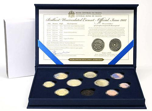 Lieferumfang:Malta : 5.88 Euro KMS Malta inkl. 2 Euro Gedenkmünze Mehrheitswahlrecht 1887  2012 Stgl.