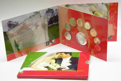 Lieferumfang:Niederlande : 3,88 Euro original KMS Hochzeit Niederlande + Medaille  2005 bfr