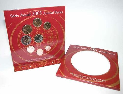 Lieferumfang:Portugal : 3,88 Euro original Kursmünzensatz aus Portugal  2003 Stgl. KMS Portugal 2003