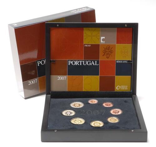 Lieferumfang:Portugal : 3,88 Euro original Kursmünzensatz aus Portugal  2007 PP