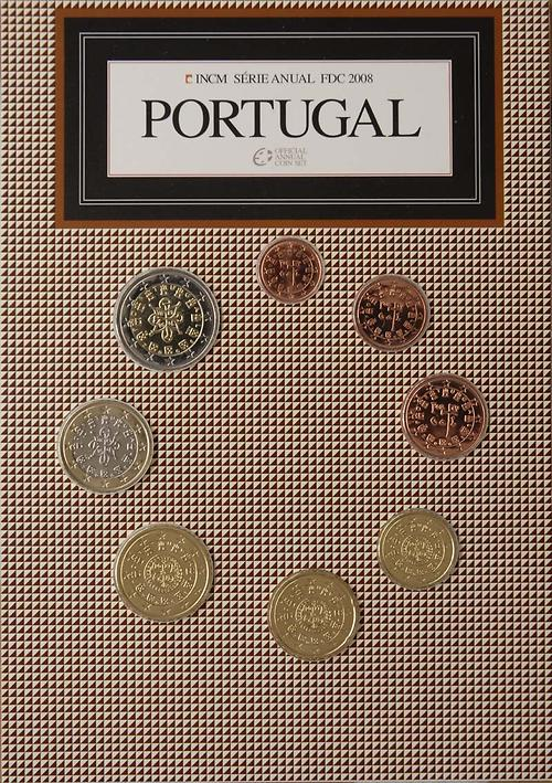 Lieferumfang:Portugal : 3,88 Euro original Kursmünzensatz aus Portugal FDC  2008 Stgl. FDC KMS Portugal 2008