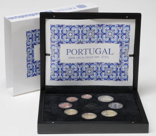 Lieferumfang:Portugal : 3,88 Euro original Kursmünzensatz aus Portugal  2009 PP KMS Portugal 2009 PP