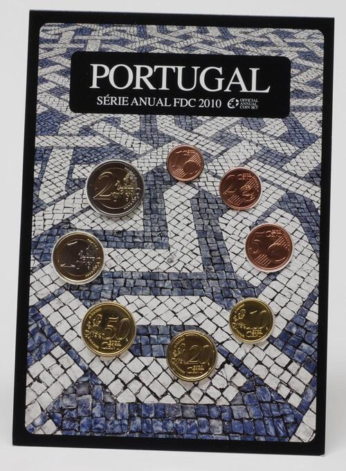 Lieferumfang:Portugal : 3,88 Euro original Kursmünzensatz aus Portugal FDC  2010 Stgl. FDC KMS Portugal 2010