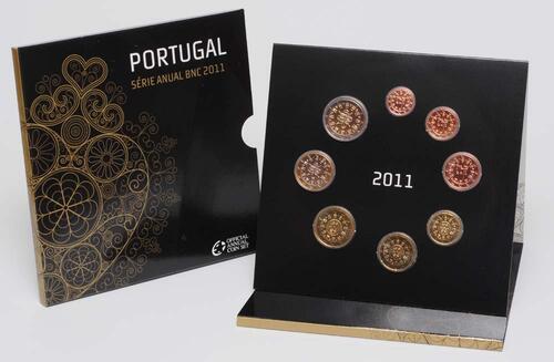 Lieferumfang:Portugal : 3,88 Euro original Kursmünzensatz aus Portugal  2011 Stgl. KMS Portugal 2011 Stgl.