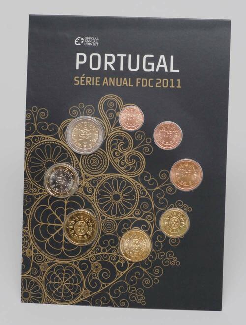 Lieferumfang:Portugal : 3,88 Euro original Kursmünzensatz aus Portugal FDC  2011 Stgl. FDC KMS Portugal 2011