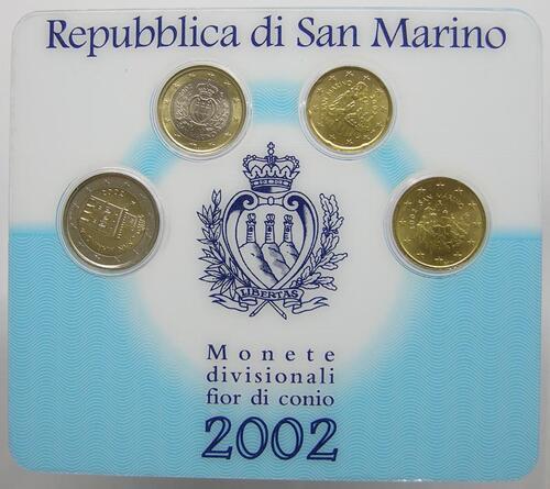 Lieferumfang:San Marino : 3,70 Euro sogenanntes Mini Kit  2002 Stgl. KMS San Marino 2002 Mini Kit
