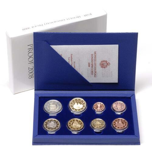 Lieferumfang:San Marino : 8,88 Euro original Kursmünzensatz aus San Marino  2008 PP KMS San Marino 2008 PP