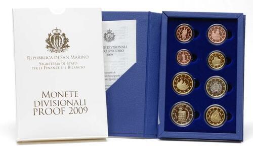 Lieferumfang:San Marino : 3,88 Euro original Kursmünzensatz aus San Marino  2009 PP