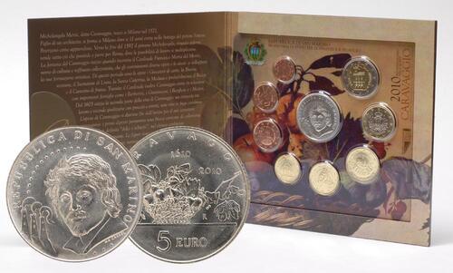 Lieferumfang:San Marino : 8,88 Euro original Kursmünzensatz aus San Marino  2010 Stgl. KMS San Marino 2010