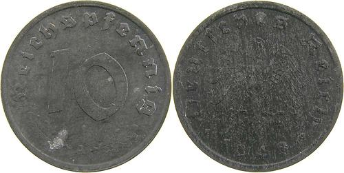 Lieferumfang:Deutschland : 10 Reichspf.   1948 ss/vz.