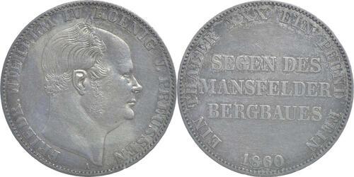 Lieferumfang:Deutschland : 1 Ausbeutev.taler Friedrich Wilhelm IV. patina 1860 ss.