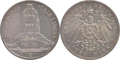 Lieferumfang:Deutschland : 3 Mark 100 Jahre Völkerschlacht bei Leipzig  1913 vz.