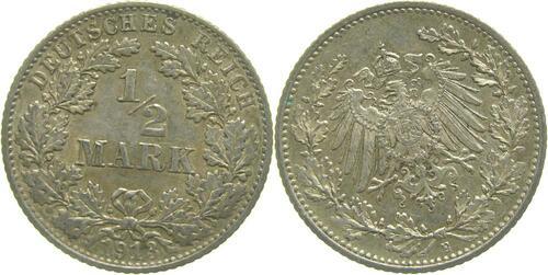 Lieferumfang:Deutschland : 1/2 Mark   1913 vz.