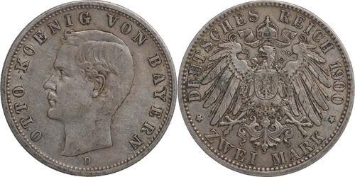 Lieferumfang:Deutschland : 2 Mark Otto  1900 ss.