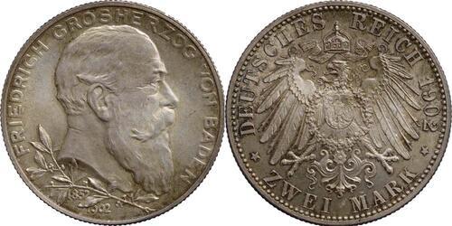 Lieferumfang:Deutschland : 2 Mark Friedrich I. patina 1902 Stgl.