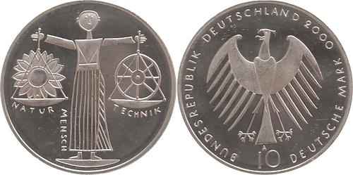 Lieferumfang:Deutschland : 10 DM Expo 2000 Hannover  2000 vz/Stgl.
