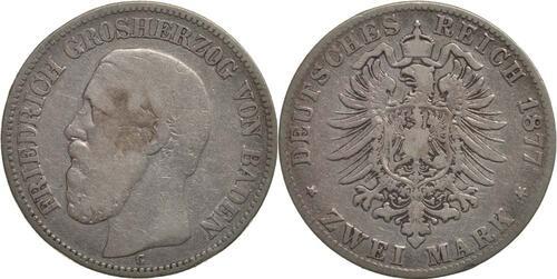 Lieferumfang:Deutschland : 2 Mark Friedrich I.  1877 s.