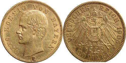 Lieferumfang:Deutschland : 20 Mark Otto  1905 ss/vz.