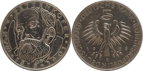 Lieferumfang:Deutschland : 5 DM Pettenkofer  1968 vz/Stgl.