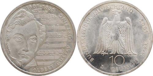 Lieferumfang:Deutschland : 10 DM 200. Geburtstag Lortzings  2001 vz/Stgl.