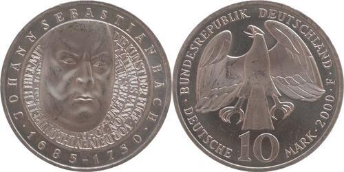 Lieferumfang:Deutschland : 10 DM J.S. Bach  2000 vz/Stgl.