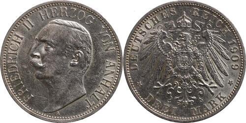Lieferumfang:Deutschland : 3 Mark Friedrich II.  1911 ss/vz.