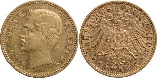 Lieferumfang:Deutschland : 10 Mark Otto  1901 ss/vz.