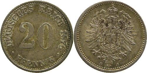 Lieferumfang:Deutschland : 20 Pfennig  patina 1876 vz/Stgl.