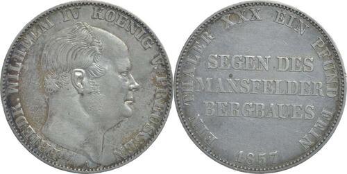 Lieferumfang:Deutschland : 1 Ausbeutetaler Friedrich Wilhem IV.  1857 ss.