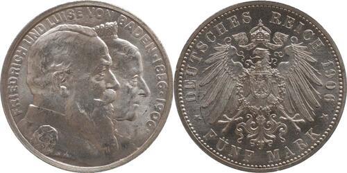 Lieferumfang:Deutschland : 5 Mark Friedrich u. Luise -fein- 1906 Stgl.
