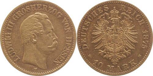 Lieferumfang:Deutschland : 10 Mark Ludwig III. winz. Rs. 1875 ss.