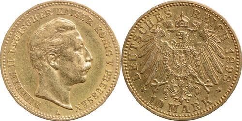 Lieferumfang:Deutschland : 10 Mark Wilhelm II.  1898 ss/vz.