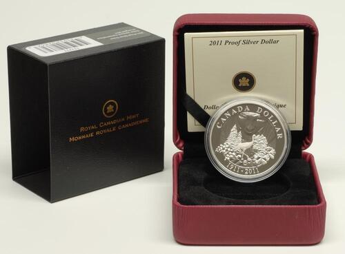 Lieferumfang:Kanada : 1 Dollar 100 Jahre Kanada Parks  2011 PP