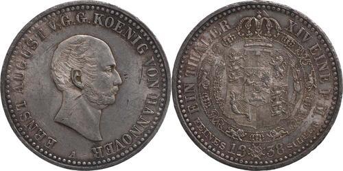 Lieferumfang:Deutschland : 1 Taler Ernst August winz. Kratzer, -selten- 1838 vz/Stgl.