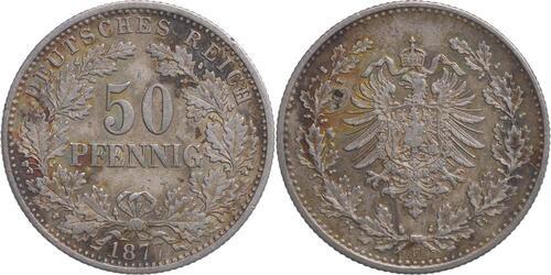 Lieferumfang:Deutschland : 50 Pfennig  patina 1877 ss.