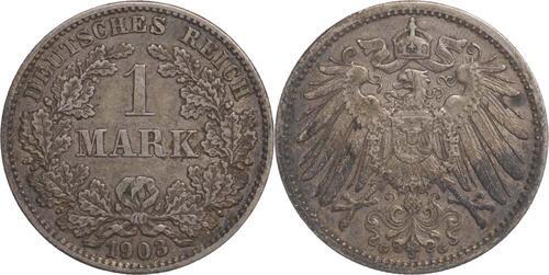 Lieferumfang:Deutschland : 1 Mark   1903 f.ss