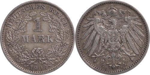 Lieferumfang:Deutschland : 1 Mark   1908 ss.