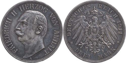 Lieferumfang:Deutschland : 3 Mark Friedrich II. patina 1911 ss/vz.