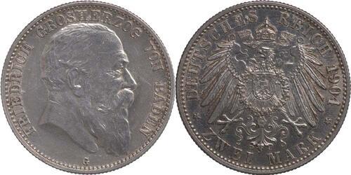 Lieferumfang:Deutschland : 2 Mark Friedrich I.  1904 vz/Stgl.