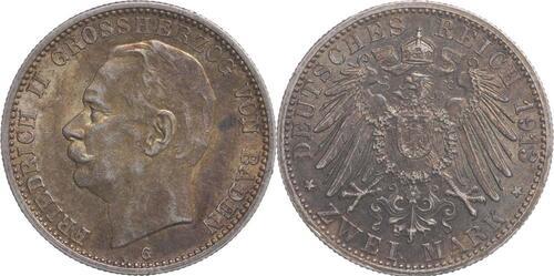 Lieferumfang:Deutschland : 2 Mark Friedrich II. patina 1913 vz.