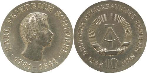Lieferumfang:DDR : 10 Mark Karl Friedrich Schinkel  1966 Stgl.