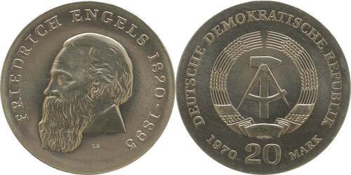 Lieferumfang:DDR : 20 Mark Friedrich Engels  1970 Stgl.