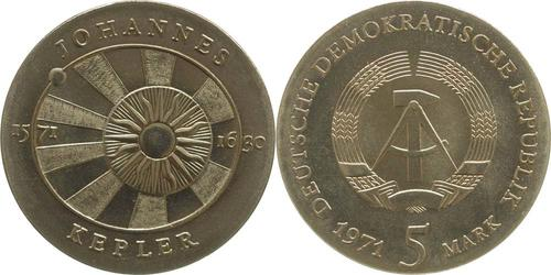 Lieferumfang:DDR : 5 Mark Johannes Kepler  1971 Stgl.
