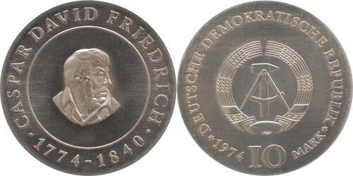 Lieferumfang:DDR : 10 Mark Caspar David Friedrich  1974 Stgl.